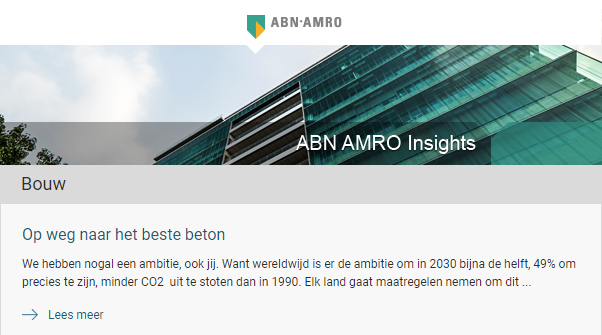 On the way to the best concrete - Newsletter ABN-AMRO